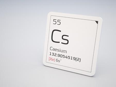 caesium: Caesium - element of the periodic table