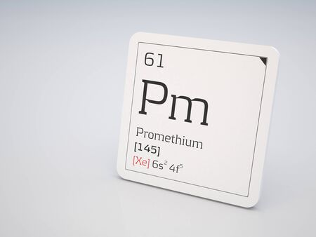 lanthanide: Promethium - element of the periodic table