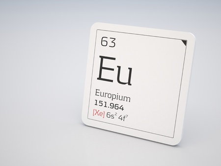 lanthanide: Europium - element of the periodic table