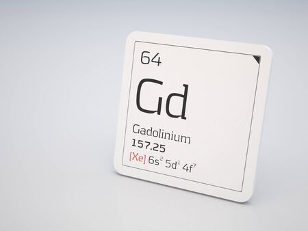 lanthanide: Gadolinium - element of the periodic table Stock Photo