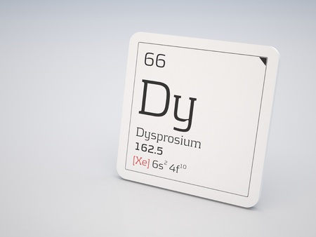 lanthanide: Dysprosium - element of the periodic table