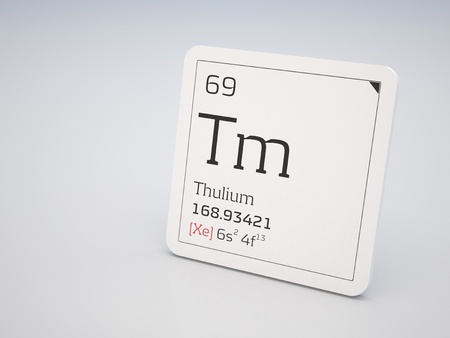 lanthanide: Thulium - element of the periodic table Stock Photo