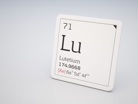 lanthanide: Lutetium - element of the periodic table