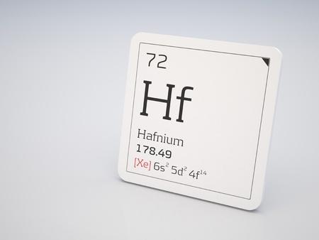 hf: Hafnium - element of the periodic table Stock Photo
