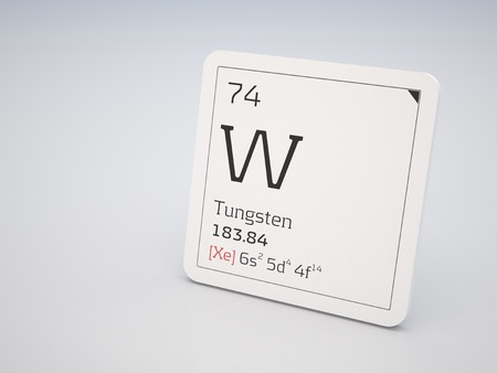 Tungsten - element of the periodic table photo