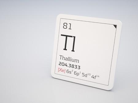 81: Thallium - element of the periodic table