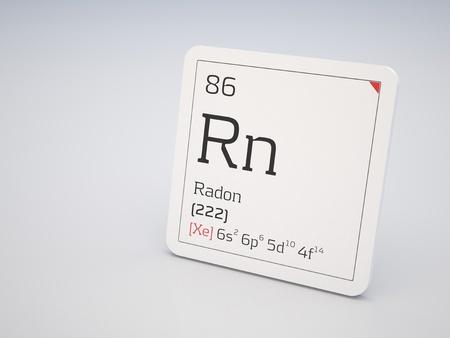 radon: Radon - element of the periodic table