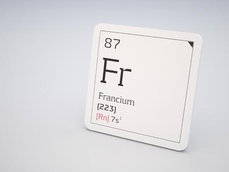 Francio smbolo p elemento qumico de la tabla peridica fotos 11958861 francio elemento de la tabla peridica urtaz Choice Image