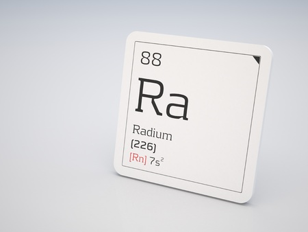 Radium - element of the periodic table Stock Photo - 11958862
