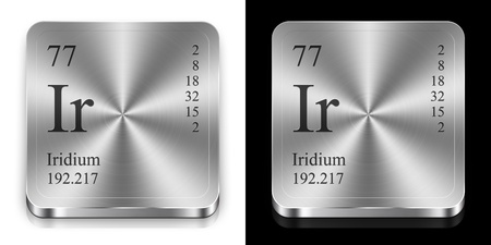 Lanthanum element of the periodic table two steel web buttons iridium element of the periodic table two steel web buttons photo urtaz Images