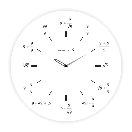 Math Clock 9 Concept photo