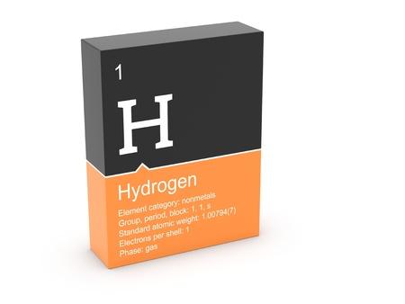 hidrógeno: Hidrógeno a partir de la tabla periódica de Mendeleiev s Foto de archivo