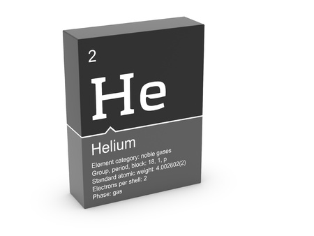 Helium from Mendeleev s periodic table photo