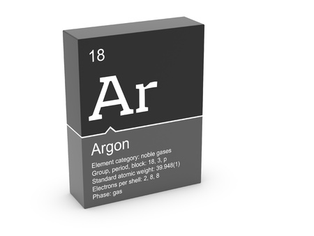 Argon from Mendeleev s periodic table Stock Photo - 12991843