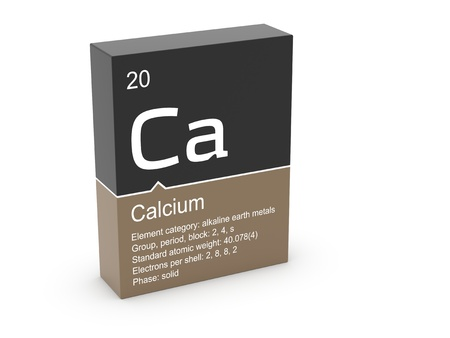 Calcium from Mendeleev s periodic table photo