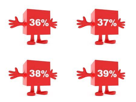 36: 36 percent, 37 percent, 38 percent, 39 percent - discount happy figures
