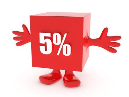 5 Percent off - discount happy figure
