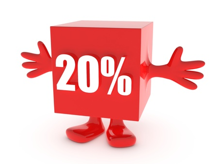 20 Percent off - discount happy figure photo