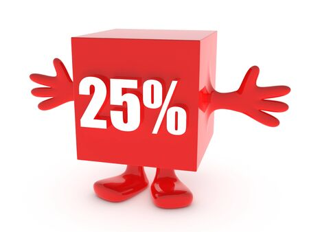 25 Percent off - discount happy figure photo
