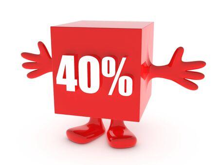 40 Percent off - discount happy figure photo