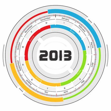 2013 calendar - futuristic concept design photo