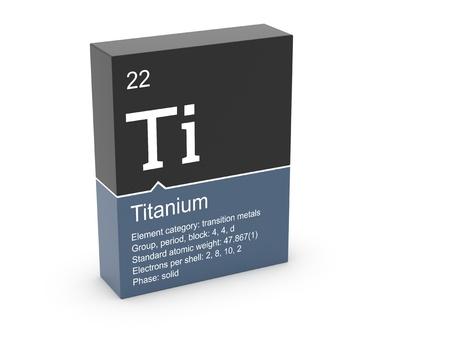 Titanium from Mendeleev s periodic table photo