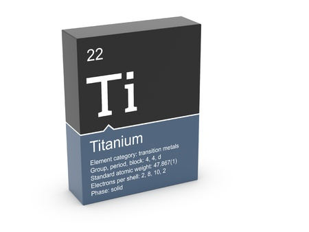 Titanium from Mendeleev s periodic table photo