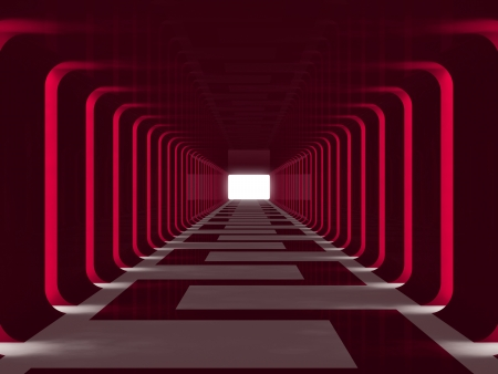 Red tunnel Stock Photo - 14036893