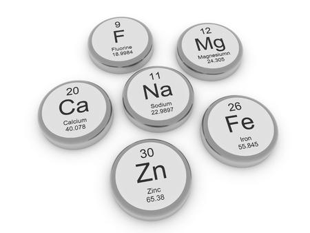 Einige Metall Mineralien Lizenzfreie Bilder