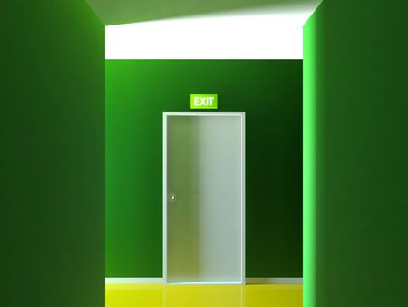 Emergency exit door Stock Photo - 14239730
