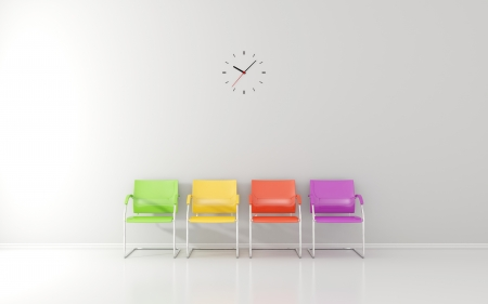 Wall clock in waiting room photo