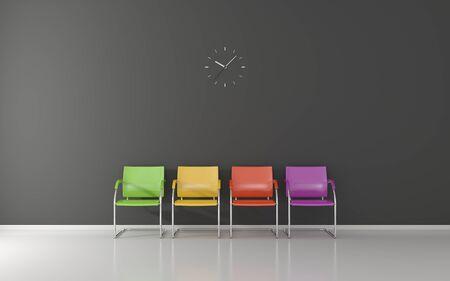 wall clock: Wall clock in waiting room
