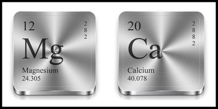 magnesium: Magnesium and Calcium metalic web buttons