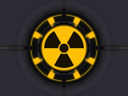 high tech device: Radioactivity symbol on high tech device