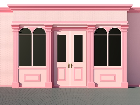 window shade: Frente de la tienda - frente de la tienda cl�sica