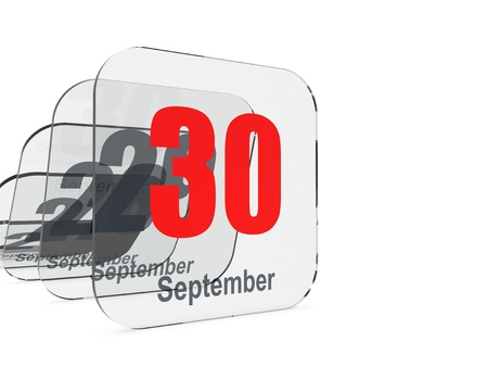the end of time: September 30 - month end - last day Stock Photo