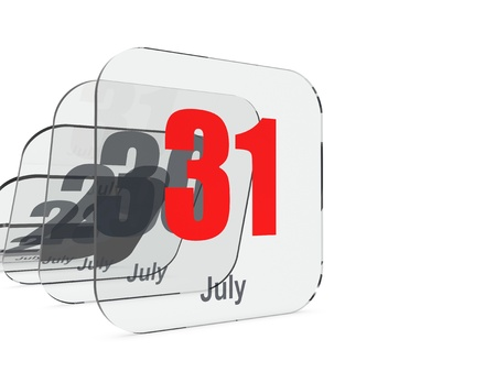 the end of time: July 31 - month end - last day Stock Photo