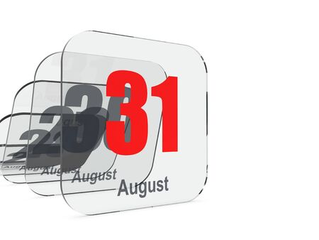 the end of time: August 31 - month end - last day