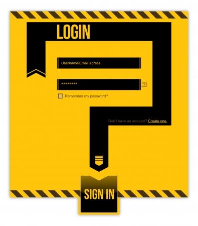 area restringida: �rea restringida. Ingresar formulario. Nombre de usuario  E-mail direcci�n y la contrase�a requerida Vectores