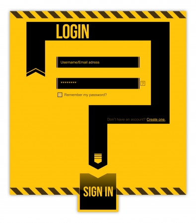 Restricted area. Login form. UsernameEmail adress and Password required Vector