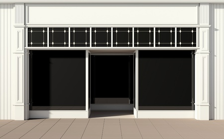 Shopfront with large windows Imagens