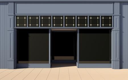 facade: Shopfront con grandes ventanas Foto de archivo