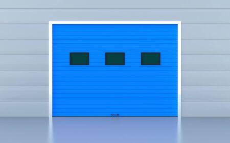 Blue industrial door or garage door Stock Photo - 14856998