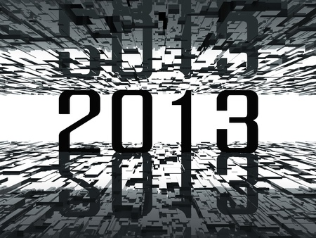 tunnel vision: 2013 bright future - abstract background