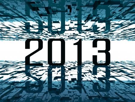2013 bright future - abstract futuristic background Stock Photo - 14857006