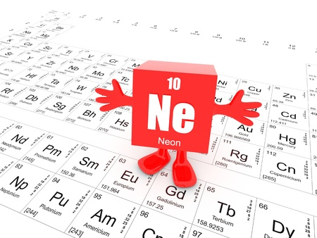 periodic element: My name is Neon and this is the Periodic Table