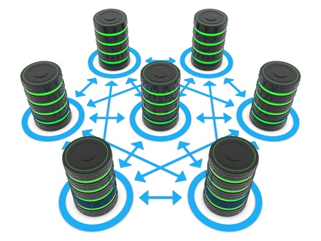cluster: Possible connections between a data center servers