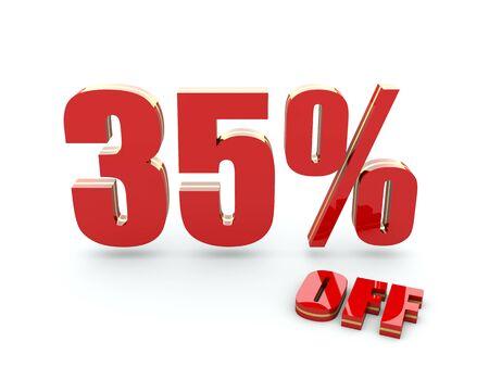35: 35 Percent off