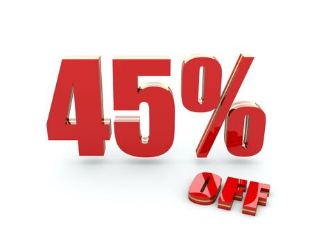 45 Percent off photo