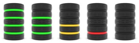 Datenbankserver oder Batteriekapazität Lizenzfreie Bilder
